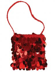 Rode handtas met lovertjes