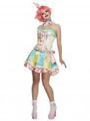 Vintage pastel clown kostuum voor vrouwen