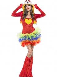 Rode papegaai kostuum met tutu voor vrouwen