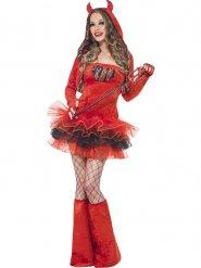 Sexy rode duivel kostuum voor vrouwen