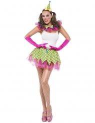 Flashy clown kostuum voor vrouwen