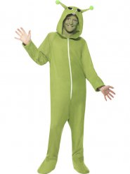 Groen alien pak voor kinderen