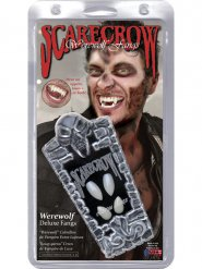 Deluxe witte Halloween weerwolf tanden