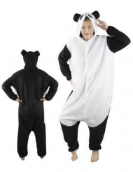 Zacht panda kostuum voor volwassenen