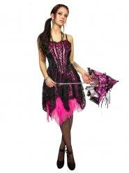 Roze gothic kostuum voor vrouwen