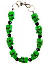 Groene doodskoppen halsketting voor volwassenen
