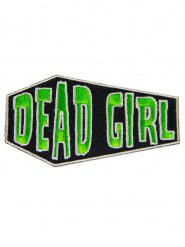 Groene Dead Girl gothic patch