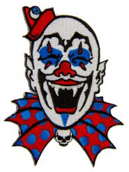 Gothic clown patch