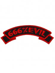 666% Evil gothic patch