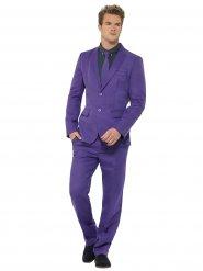 Driedelig paars kostuum voor mannen