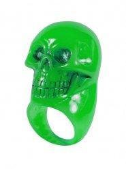 Groene doodskop ring