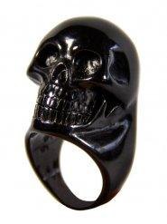 Zwarte doodskop ring