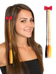 Zwarte rode en gele vlechten haarspeld