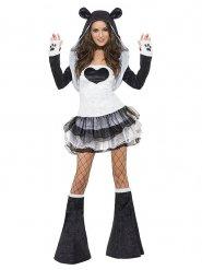 Sexy panda kostuum met tutu voor vrouwen