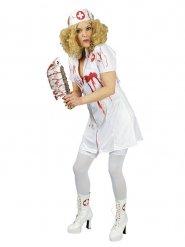 Bloederige verpleegster kostuum voor vrouwen