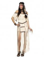 Indianen kostuum met franjes voor vrouwen