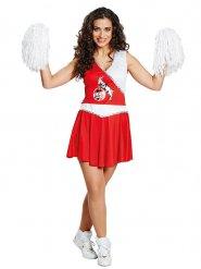 Rood en wit FC Keulen cheerleader kostuum voor vrouwen