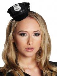 Zwarte mini politiepet voor vrouwen