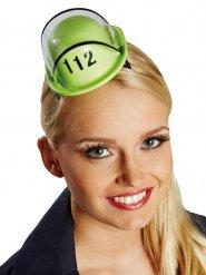 Mini groene brandweerhelm voor vrouwen