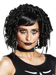 Zwarte gothic pruik voor vrouwen