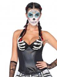 Sexy skelet korset voor vrouwen
