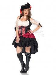 Sexy piraten barok kostuum voor vrouwen - Grote Maten