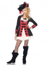 Luxe piraten kapitein outfit voor tieners