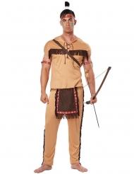 Beige indianen kostuum voor mannen