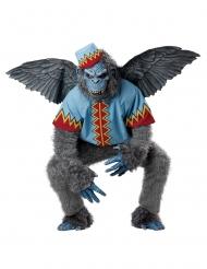 Grijs vliegende aap kostuum voor mannen