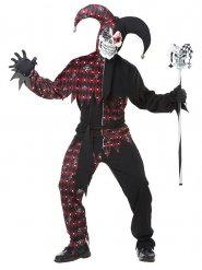 Donkere harlekijn kostuum voor mannen