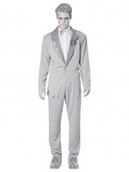 Grijs spook bruidegom kostuum voor mannen