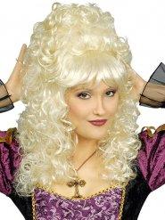 Blonde barok krulpruik voor vrouwen