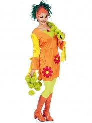 Oranje jaren 60 retro kostuum voor vrouwen