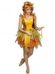 Herfstkleurig fee kostuum voor vrouwen