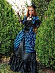 Victoriaans gothic vampier kostuum voor vrouwen