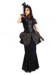Luxe victoriaanse gothic outfit voor vrouwen
