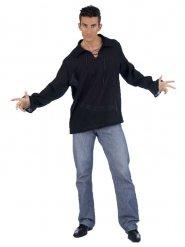 Zwarte middeleeuwse blouse voor mannen