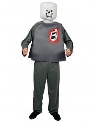 Zombie blok figuur kostuum voor volwassenen