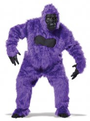 Paars en zwart gorilla kostuum voor volwassenen