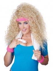 Blonde jaren 80 pruik voor vrouwen