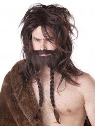 Viking barbaar pruik voor mannen