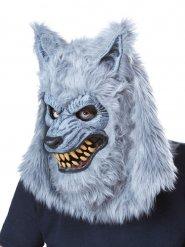 Grijs weerwolf masker voor volwassenen