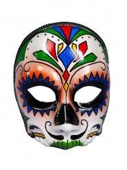 Dia de los Muertos schedel half masker voor volwassenen