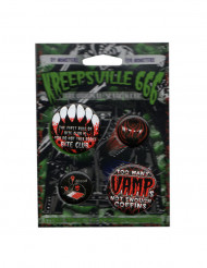 4 gothic vampier badges