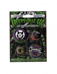 4 gothic Kreepsville badges