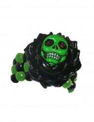 Zwart en groen gothic skelet armband voor volwassenen