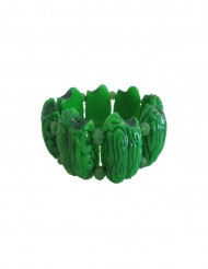 Groene zombie brains armband voor volwassenen
