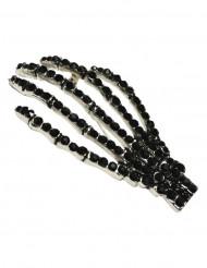 Zwarte gothic skelet hand broche