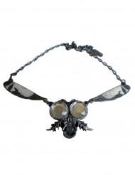 Zilverkleurige gothic vlieg ketting