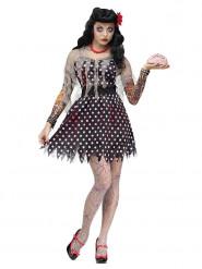 Rockabilly zombie kostuum voor vrouwen